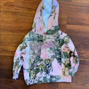 BRAND NEW! Kids cabelas zip up sweatshirt
